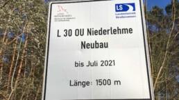 Ingenieurbuero Bertels Münster Berlin Niederlehme Straßenschild