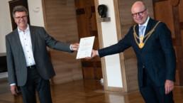 Ingenieurbuero Bertels Münster Berlin CSR Urkunde Übergabe